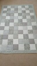 Hand Quilted Patchwork Throw Quilt.. Shades Of Gray...Beautiful....