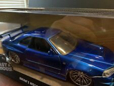 THE FAST AND THE FURIOUS DIECAST 2002 NISSAN SKYLINE GT-R R34 - 1:24 SCALE NIB