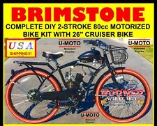 "Ultra 2-Stroke 66cc/80cc Complete Diy Motorized Bicycle Kit With 26"" Bike!"
