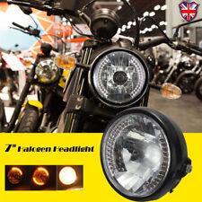 12v 7 INCH MOTORCYCLE MOTORBIKE HEADLIGHT HEADLAMP ROUND HALOGEN H4 BULB SIDE
