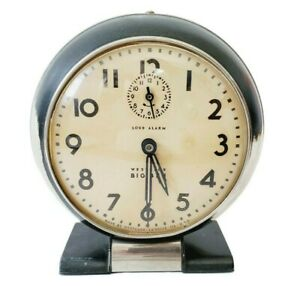 Westclox Big Ben Loud Alarm Clock Style 5 5a RUNS then STOPS Vintage Wind Up