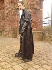 Gothic Kunstledermantel - von Hard Leather Stuff - Ledermantel Größe -M-  (MA21)