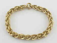 "18K Yellow Gold Braided Rolo Link Bracelet 8"" 16.70 grams"