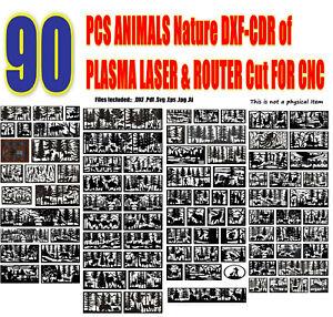90 DXF-CDR Files Railing ART PANEL NATURE ANIMALS of PLASMA LASER ROUTER Cut CNC