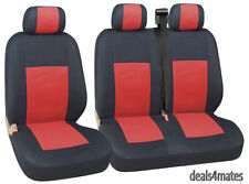 RED 2+1 FABRIC SEAT COVERS CITROEN DISPATCH RELAY NEW
