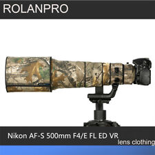 ROLANPRO Lens Coat for Nikon AF-S 500mm F/4E FL ED VR Camouflage Rain Cover Case