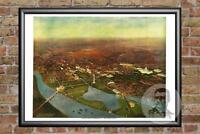 Vintage Washington, DC Map 1916 - Historic D.C. Art - Old Victorian Industrial