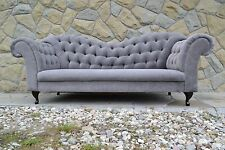 Chesterfield three seater sofa - colors - Grey, black, blue gold,etc. Warranty