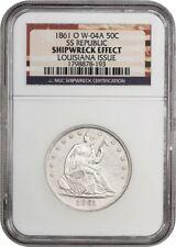S.S. Republic: 1861-O 50c NGC Shipwreck Effect (Louisiana Issue, W-04A)