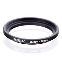 RISE(UK) 39-42mm Metal Step Up Ring Lens Adapter 39mm to 42mm for Camera Filters