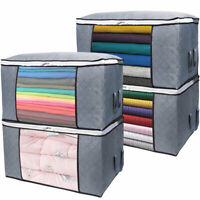 Large Clothes Storage Bags Capacity Storage Bins Foldable Storage Box Quilt