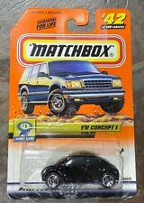 Matchbox Show Car Series VW Concept 1 Volkswagen Car Black #42 GB