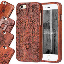 iPhone 6/6S Plus Natural Wooden Wood Bamboo Phone Case Cover for iPhone 5/5S/SE