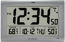 Large Digital Wall Clock Clocks Outdoor Temperature Wireless Calendar La Crosse