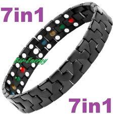 TITANIUM Magnetic Energy Armband Power Bracelet Health Bio 7in1 Bio Black 25557