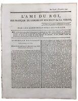 Dol de Bretagne en 1791 Saint Malo Coblentz Émigrés Révolution Française Roi