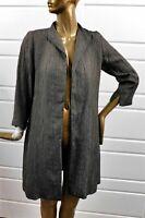 Eileen Fisher Graphite Textured Knee Length Jacket sz S