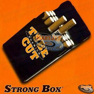 Black Strong-Box Flip Cigarette Case Kings Hard Plastic 84mm Regular Normal Size