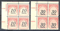US Stamp (L2242) Scott# J97-J98, Mint NH OG, Nice Plate Block, Postage Due