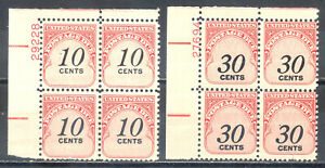 US Stamp (L2242) Scott# J97-J98, Mint NH OG, Nice Plate Block, Postage Due