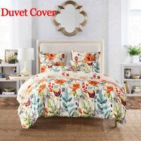 Living Quilt Flowers Pillow Duvet Cover Bedroom Decor Bedding Set Home Textile
