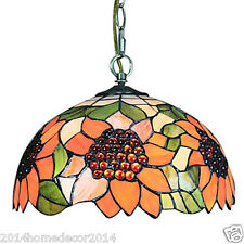 Sunflower Tiffany Pendent Lights w/ Stained Glass Lamp Shade Lighting 1 Light