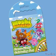 Moshi Monsters Carry Along Colouring Set Mini Colouring Book and Crayons Set