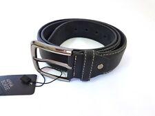 Cinta Cintura Uomo Pelle Nera Jeans CTV0178 Elegante Glamour Fashion Moda hac