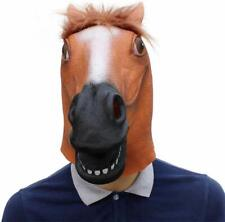 Horse Head Mask Latex Animal Costume Prop for Halloween Costume Party Novelty
