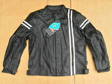 "RK Sports Mens Leather Motorcycle / Motorbike Jacket Size UK 46"" Chest (BOX 19)"