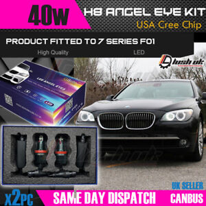 2x H8 20W CREE BMW LED ANGEL EYES 7 SERIES F01 / F02 WHITE HALO MARKERS UK A1