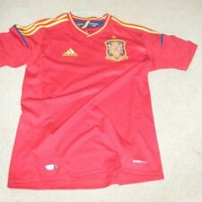 Spain Adidas National Team Football Soccer Jersey Men's Large Used