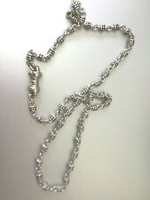 Michael Dawkins  textured necklace sterling silver CHAIN