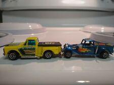 Lot of 2 Pick up Zylmex Chevy Stepside P338 n Zylmec D18 Cherry bomb ford