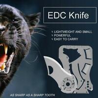 9 in 1 Multifunktionswerkzeug Outdoor Jagd Überleben Camping Pocket Card Messer