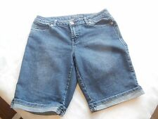 Women's Baccini Denim Jean Bermuda Walking Shorts Size 10 Designer Wear