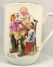 Norman Rockwell Coffee Mug The Toymaker Porcelain Vintage Seal of Authenticity