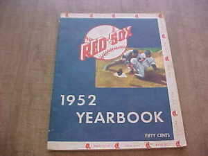 1952  Boston Red Sox Yearbook Ted Williams  Ex+ Fenway Park Vintage