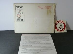 Vintage 1966 Cincinnati Redlegs Reds Baseball Yearbook Request + Decal