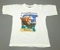 Vintage 1492-1992 Christopher Columbus Bahamas Ship Single Stitch T-Shirt Size M