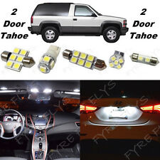 16x White LED lights interior package kit for 1992-1999 2 door Tahoe/Yukon CT4W