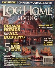 Log Home Living Dream Homes Floor Plans Cabins Best Tiny Sep 2014 FREE SHIPPING!