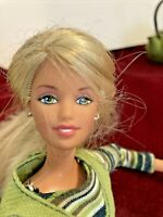 "Mattel Barbie Doll 1995 Long 6"" Blonde Hair 11"" Tall Vintage"