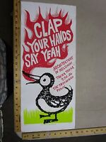 2006 Rock Roll Concert Poster Clap Your Hands Say Yeah Print Mafia S/N LE