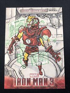 2013 Upper Deck Iron Man 3 Sketch Card 1/1 Babisu Kourtis Marvel SP