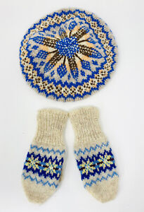 HANDKNIT TAM & MITTENS FOR BABY/TODDLER, MADE IN SCOTLAND
