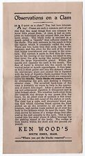 Rare 1930s Ken Wood SOUTH ESSEX Clams ADVERTISEMENT Massachusetts WOODMEN'S Clam