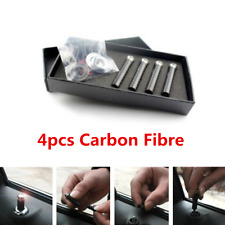 4pcs/set Real Carbon Fibre Style Car Truck Interior Door Lock Knob Pull Pin Kit