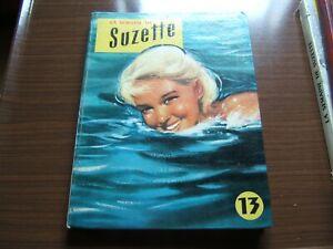Recueil reliure album La semaine de Suzette n° 13 de 1957 du n°1 au n°12
