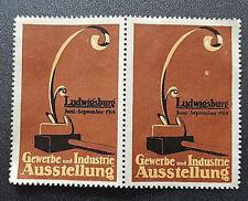 Cinderella Poster Stamp Gewerbe und Industrie Ausstellung Ludwigsburg 1914 (7595